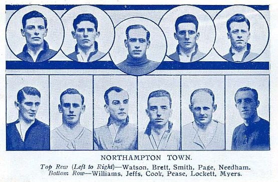 Northampton Town team pics in 1925.