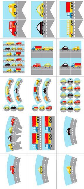 Postreadicción galletas decoradas, cupcakes y pops: Fiesta de coches, imprimible gratuito y ¡Twitter!
