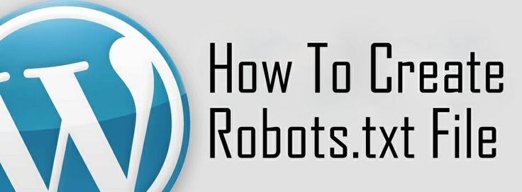 How to create robots.txt file for blog or website. | Blog Blogging Tips