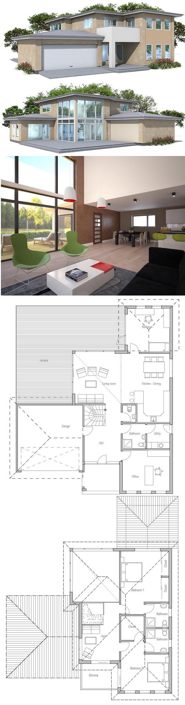 Open and spacious living areas three bedrooms
