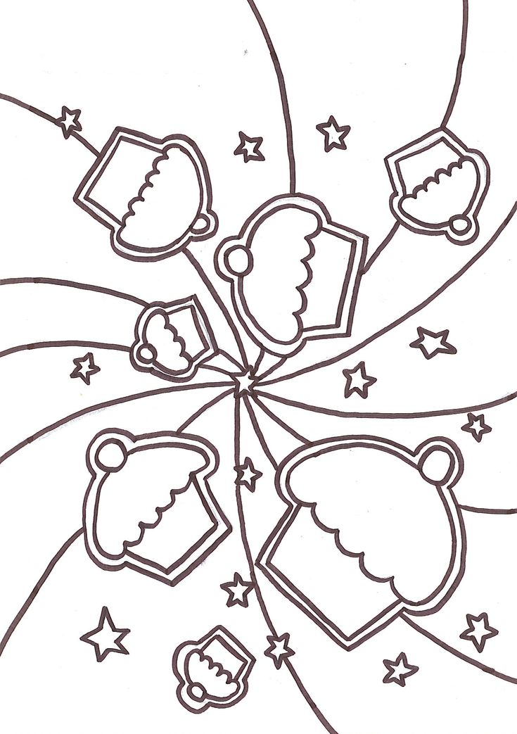 Coloring Pages Of Cakes Cupcakes Pattern Free Printable Adult