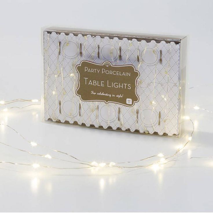Dazzle your dinner guests with this set of warm white dainty table lights.Give a warm glow to your dinner table with this set of 60 LED lights on a 3 metre length of wire. Pop in a jar or position down the centre of your table to add some ambience to your dinner party. Each set of light requires 3 x AA batteries, which are not included.LED. This is a decoration and not a toy. Keep out of reach of young children. Retain information for future reference.This back contains 1 set of battery…