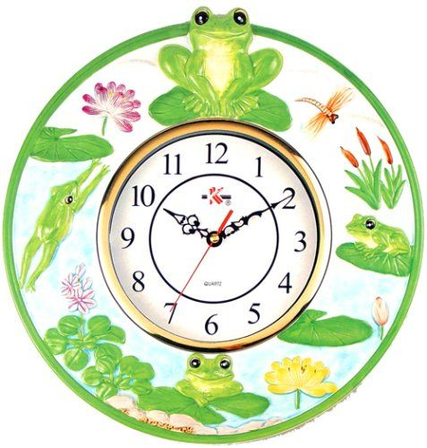 Green Frog Kitchen Wall Clock