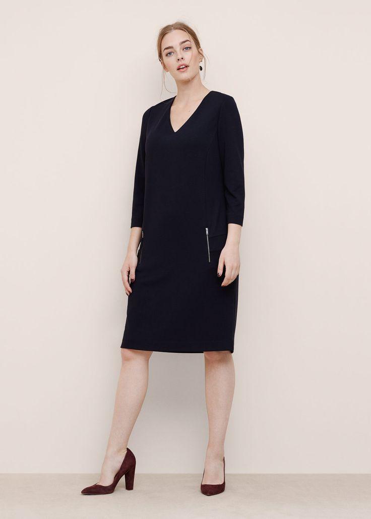 Vestido recto cremalleras VIOLETA MANGO | REF. 71035518 - BLACKY7 49,99€ Color: negro