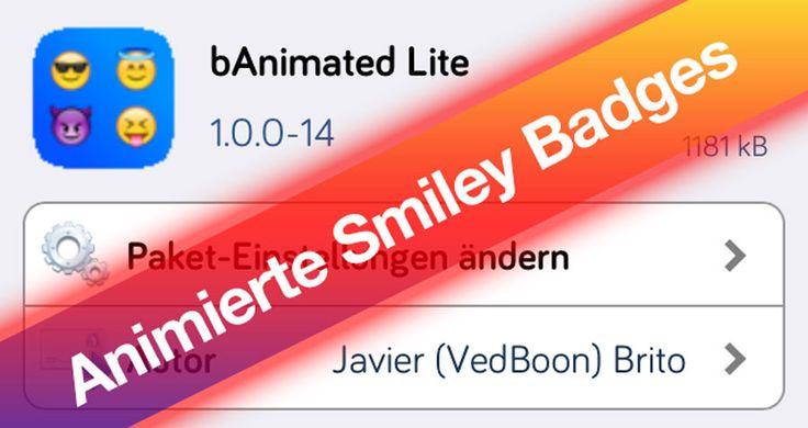 bAnimated: animierte Smileys als iOS 7 Badges! - http://apfeleimer.de/2014/02/banimated-animierte-smileys-als-ios-7-badges - Der iOS 7 Cydia Tweak bAnimated animiert die App Icon Badges und lässt Euch auf einen Blick erkennen, welche App nun eine neue Notification erhalten hat. Interessant finden wir die Idee, mit einem Smiley, der je nach Zahl verpasster Meldungen bis zu 50 verschiedene Smiley Gesichtsausdrücke k...