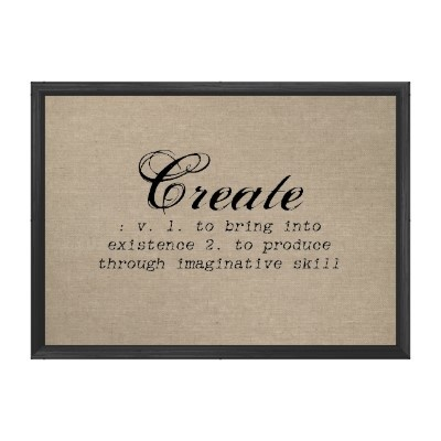 Vintage Create Definition Rustic Chic Burlap Print Poster