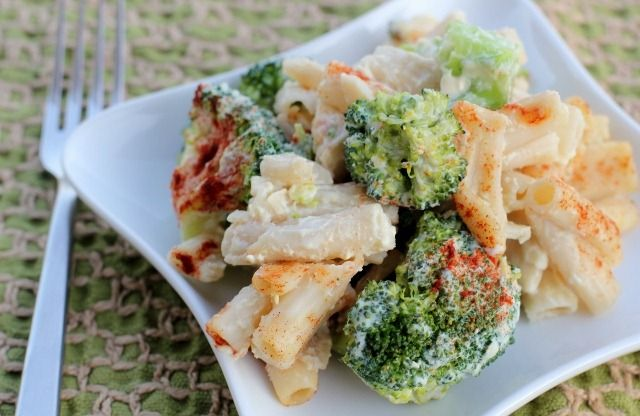 Vegan Broccoli Cheese Pasta Bake From Daily Garnish. Cheese Sauce And Broccoli. How Can You Go Wrong?
