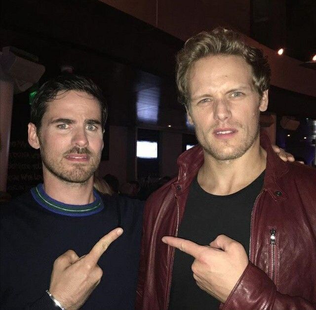 My two FAVORITE men!! Colin ó donoghue as Captain Hook of Once Upon A Time and Sam Heughan as James Fraser of Outlander - Love these two!! - San Diego Comic Con festival - July 21st, 2017