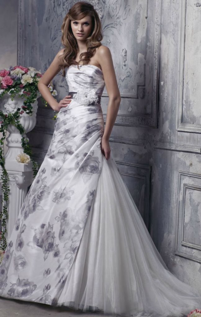25 cute Printed wedding dress ideas on Pinterest  Floral gown Alternative wedding dresses and