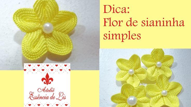 Dica: Flor de sianinha simples - Ateliê Essência de Lis - YouTube