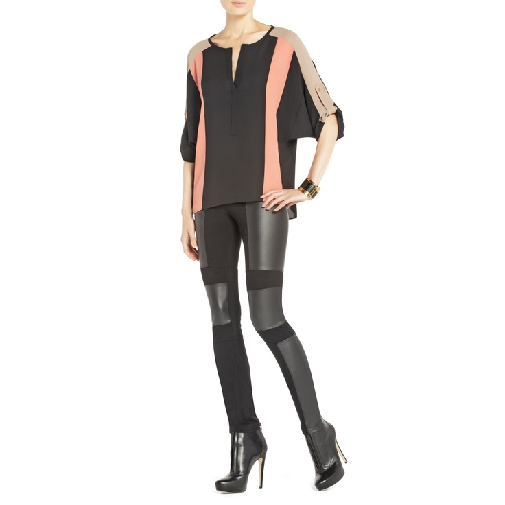 BCBGMAXAZRIA - SHOP BY CATEGORY: TOPS: VIEW ALL: JANE COLOR-BLOCKED TOP