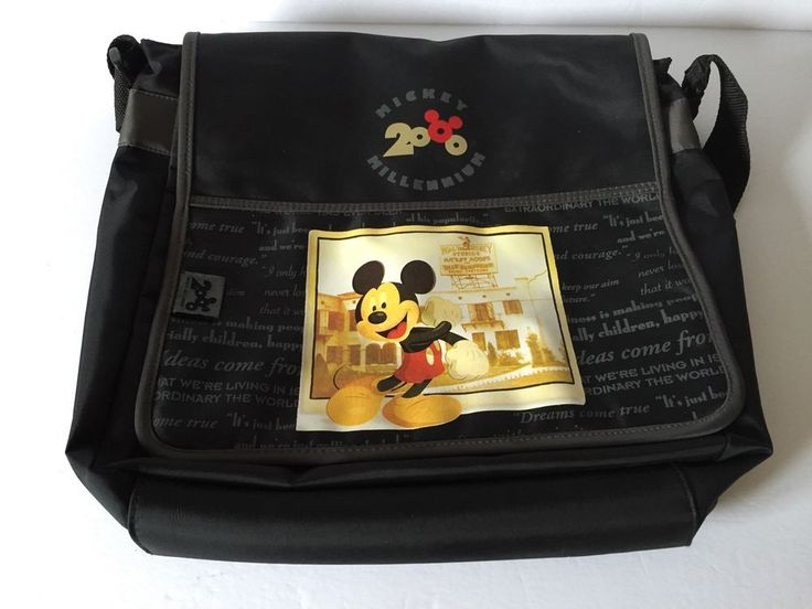 Disney 2000 Mickey Millennium Bag School Laptop Book Tote Shoulder Bag    eBay
