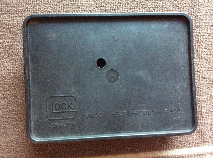 Early Glock 40 Caliber Plastic Manufacturers Box by DublinsAttic on Etsy