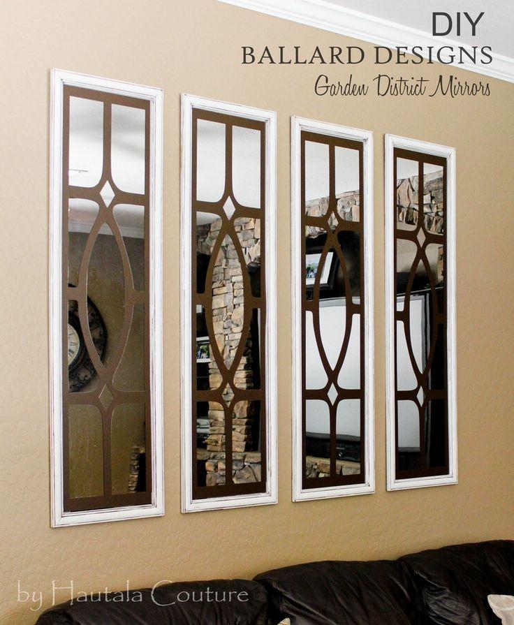 Hautala couture diy ballard design knockoff mirror for Ballard designs garden district mirrors