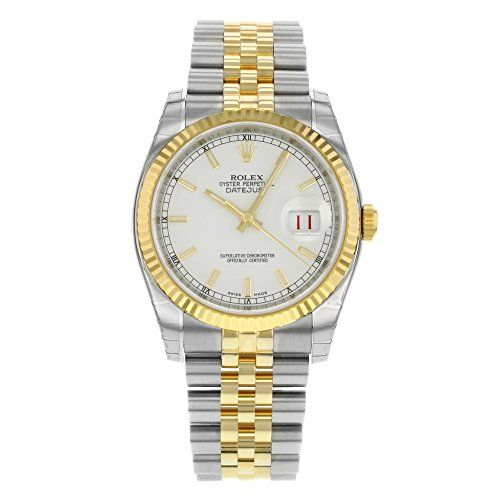 #rolexladieswatches Rolex Datejust White Index Dial Jubilee Bracelet Fluted Bezel Two-tone Mens Watch 116233WSJ Check https://www.carrywatches.com