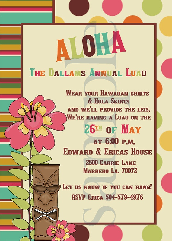 Annual Luau Invitations Party Set By LullabyLoo