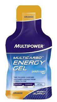 Multipower Multicarbo Gel 40gr, servis başına 26gr karbonhidrat içeren, dayanıklılık ve performansınızı korumaya yardımcı, sıvı formda enerji jel, supplement ürünüdür. Bir kutu 24 paket ürün içerir. Multipower Multicarbo Gel, hafif ve kullanışlı, vejeteryan ve vegan beslenme için uygun gıda takviyesidir.