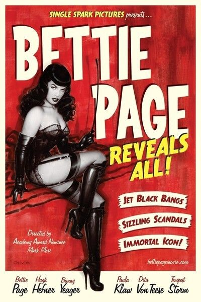 Academy Award-nominated filmmaker Mark Mori's BETTIE PAGE REVEALS ALL is an intimate look at one of the world's most recognized sex symbols, told in her own words for the first time. In Mori's alluring documentary, the real Bettie Page emerges from the veil of myth and rumor via audio interviews taped a decade prior to her death in 2008.