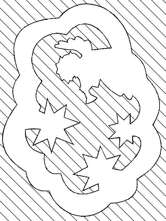 vystřihovánka andílek na obláčku