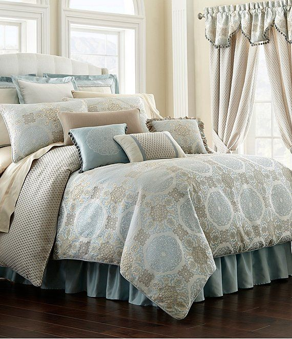 Waterford Jonet Jacquard Medallion Comforter Set With Images