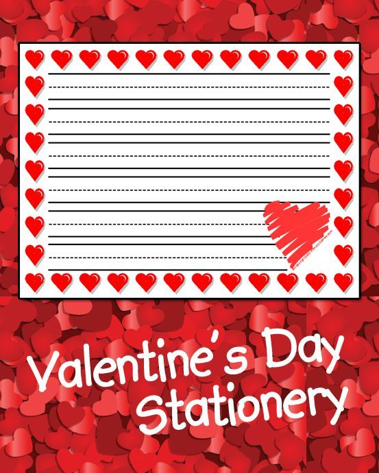 105 best Valentines Stationery images on Pinterest  Printable