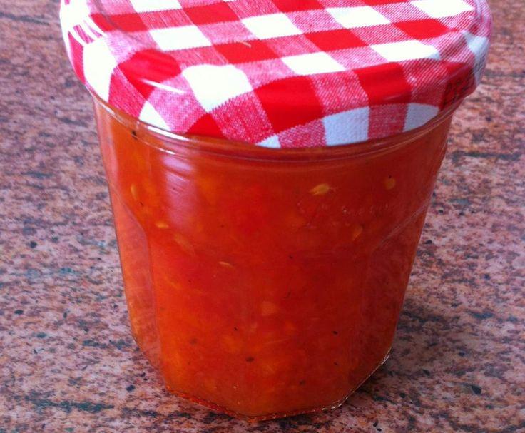 Rezept Tomaten Relish (zu gegrilltem/Nachos etc) von herzmelli - Rezept der Kategorie Saucen/Dips/Brotaufstriche