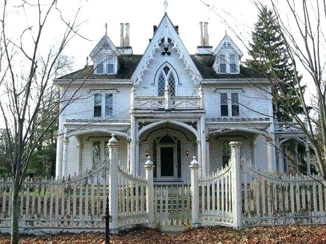 Victorian Gothic Revival House Homes Abandoned Homes For Sale Revival Mansion Revival Homes Victorian Gothic Revival Ho Gothic House Victorian Homes Old Houses