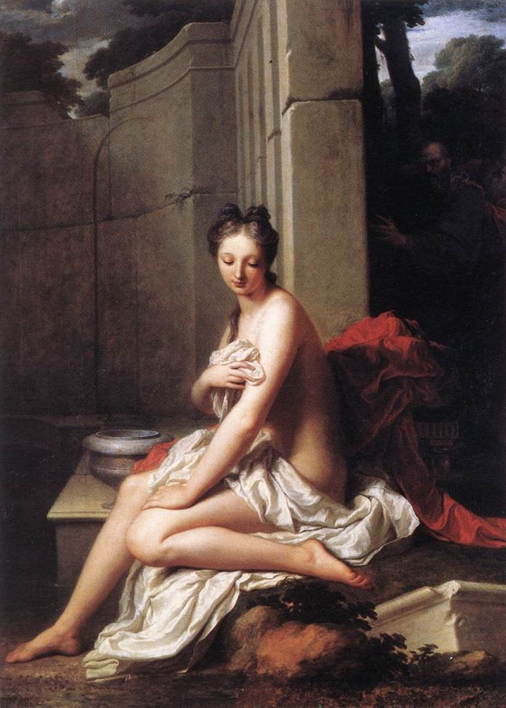Jean-Baptiste Santerre (ca. 1658, Magny-en-Vexin, France - ca. 1717, Paris, France)  Susanna at the Bath 1704  Musée du Louvre