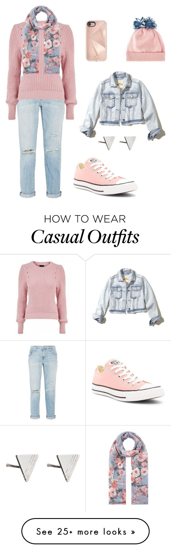 """""""Casual"""" by dr3amd0ll on Polyvore featuring Current/Elliott, Topshop, Accessorize, Converse, Rebecca Minkoff, Federica Moretti, Hollister Co. and Rachel Jackson"""