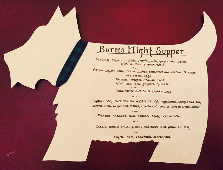Burns Night Menu