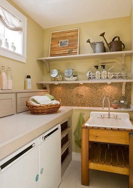kleine waschküche kreativ einrichten und gestalten