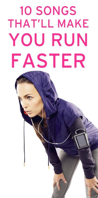 Songs that will help you run faster and the link to find the pace of the music.