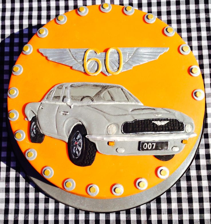 Vintage Aston Martin on a Cake. Handmade & hand painted by Lady Lucks House of Cakes x