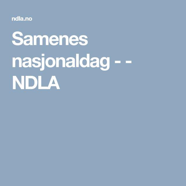 Samenes nasjonaldag - - NDLA