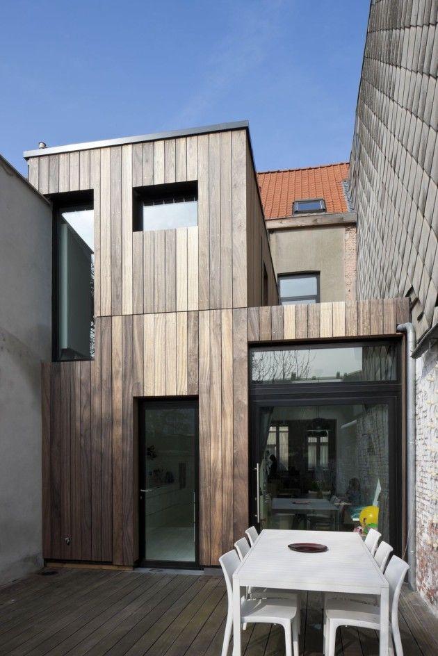 25 beste idee n over houten gevelbekleding huis op pinterest kachels buiten huisstijlkleuren - Stenen huis uitbreiding ...