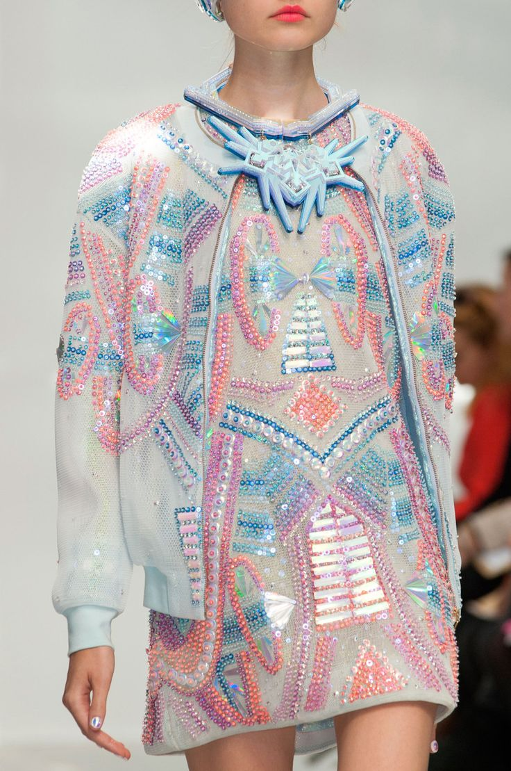 Manish Arora at Paris Fashion Week Spring 2015 without the jacket, and i love the colours