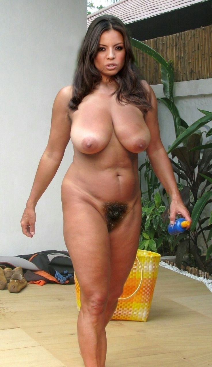 Are Women nude with big bush visible