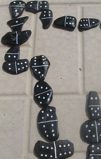 DIY dominoes! great addition to backyard games