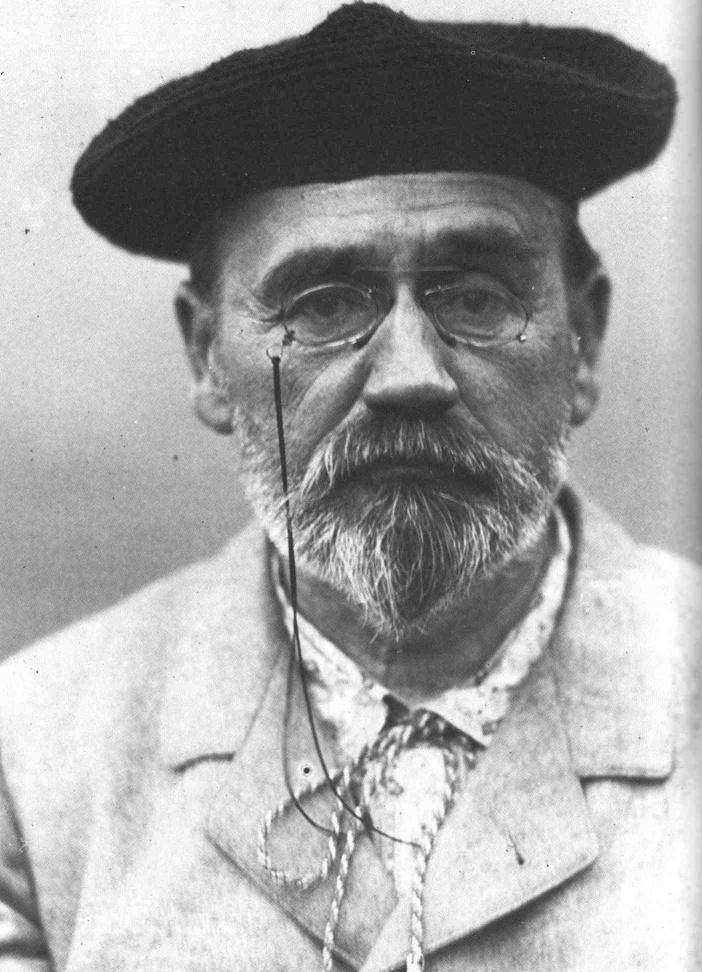 • ÉMILE ZOLA (1840-1902) • 1902, Autoportrait au béret •