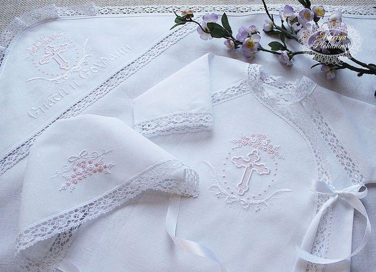 """Купить Крестильный комплект """"Нежный вереск"""" - крестильный комплект, крестильный набор, крестильное платье"""