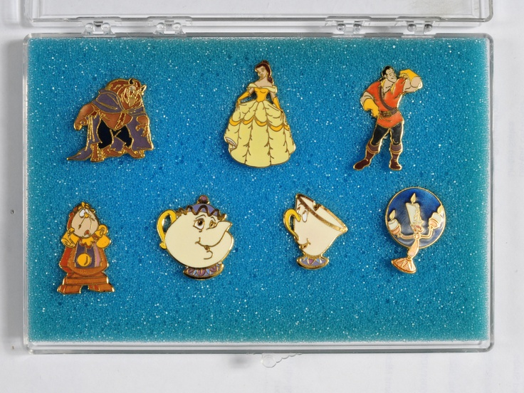 4156h Beauty and the Beast Cast Member Disney Pin Set from Early 90s | eBay