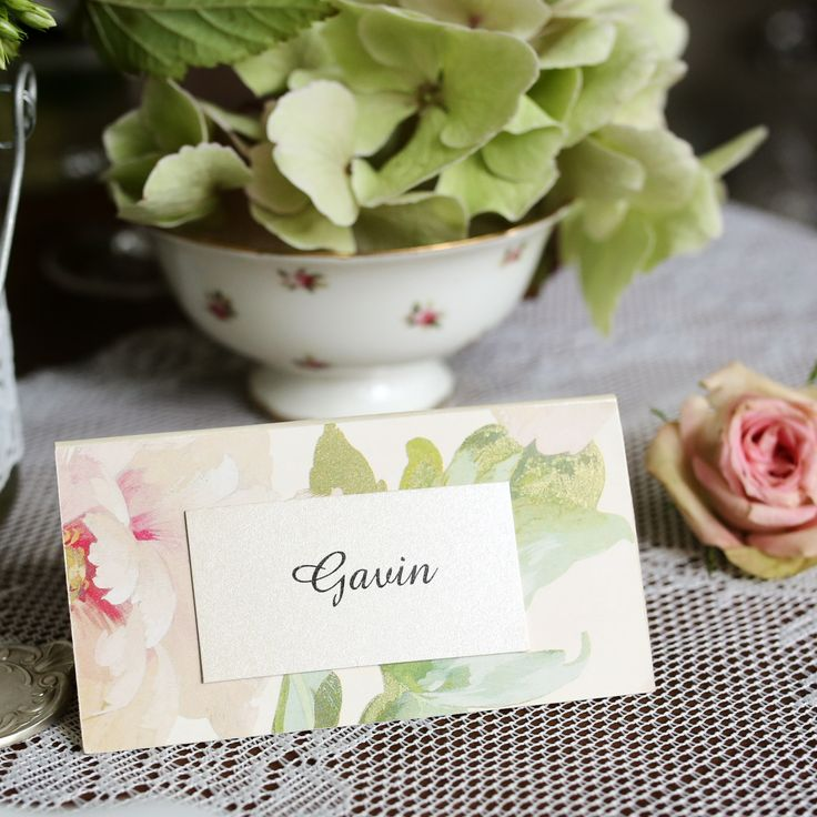 floral backing tent cards www.bohemiandreams.co.uk
