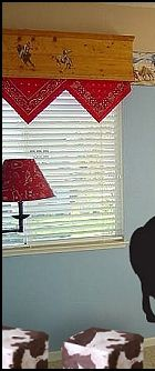 Bandana window valance