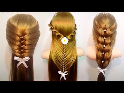 Top 10 Amazing Hairstyles Tutorials Compilation 2017   Best Hairstyles for Girls - YouTube