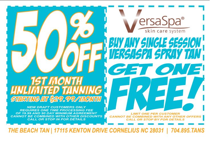 spray tanning coupons