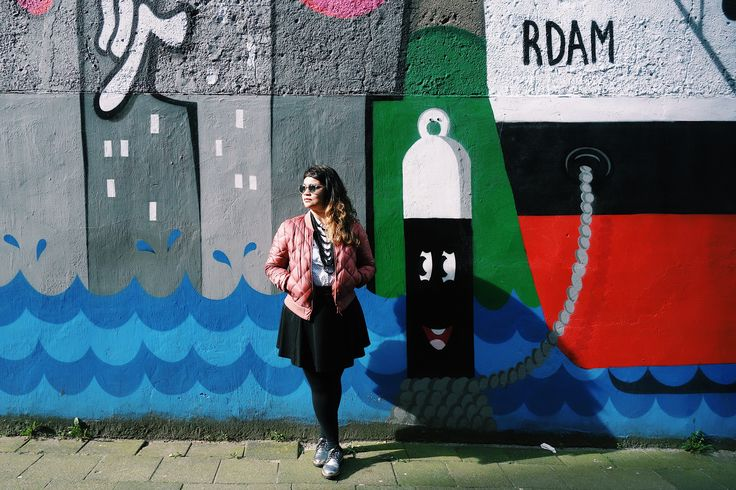 Lots of street art to be found in Rotterdam.
