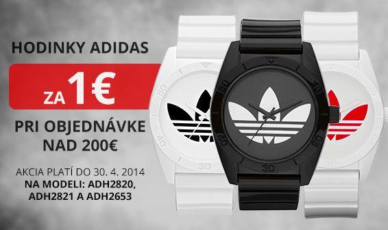 Pri nákupe nad 200E, hodinky Adidas za 1 E. www.1010.sk