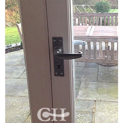 Pewter Lever Door Handles On French Doors