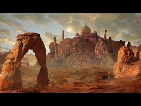 DIGITAL MATTE PAINTING - SPLITTING THE TAJ MAHAL | PHOTOSHOP DEMO DIGITAL ART MATTE PAINTING - YouTube