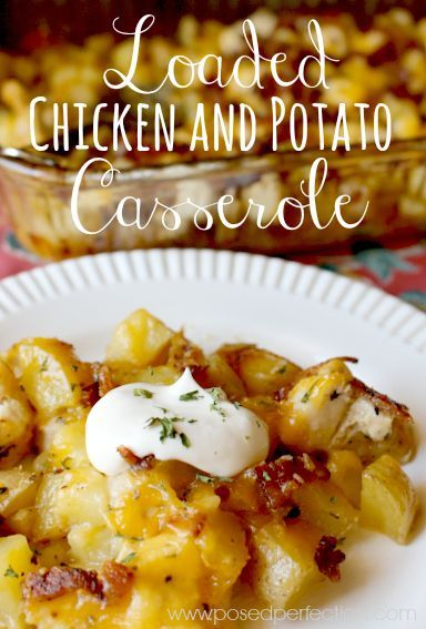 This Loaded Chicken and Potato Casserole is the ultimate comfort food! Packed with flavor and easy to prepare, it's bound to be a new favorite for your family.